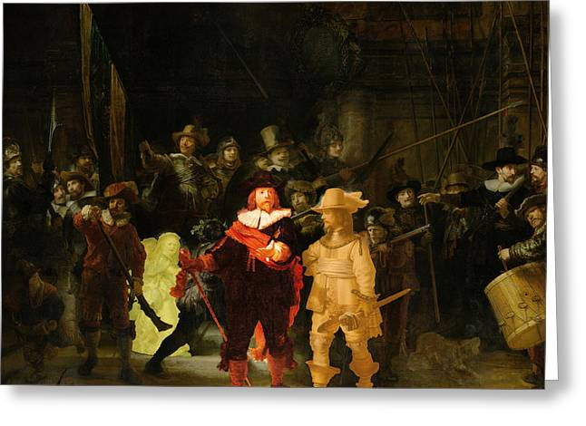 Contemporary 1 Rembrandt Greeting Card by David Bridburg