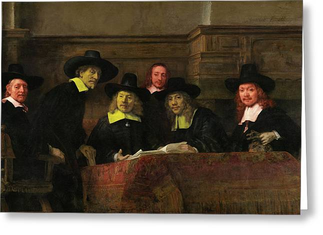 Contemporary 3 Rembrandt Greeting Card by David Bridburg