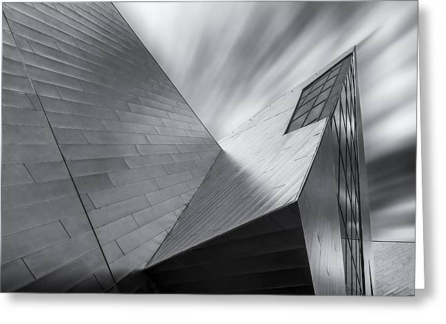 Contemporary Architecture Of The Shops At Crystals, Aria, Las Ve Greeting Card by Adam Romanowicz