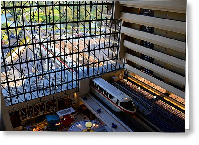 Monorail Greeting Cards - Contemporary monorail Greeting Card by David Lee Thompson