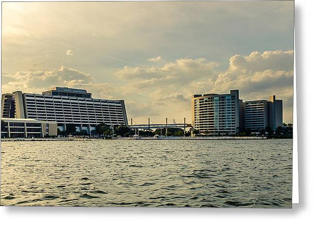 Walt Disney World Greeting Cards - Contemporary resort Greeting Card by Chris Bordeleau
