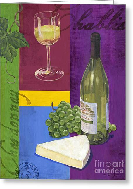 Contemporary Wine Collage II Greeting Card by Paul Brent