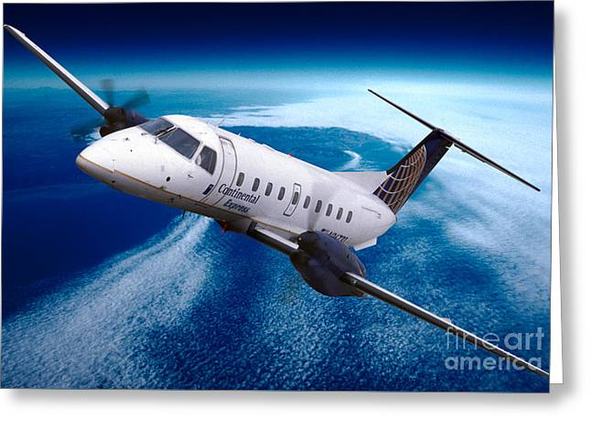 Continental Express Embraer Emb120rt Brasilia N16731 Greeting Card by Wernher Krutein