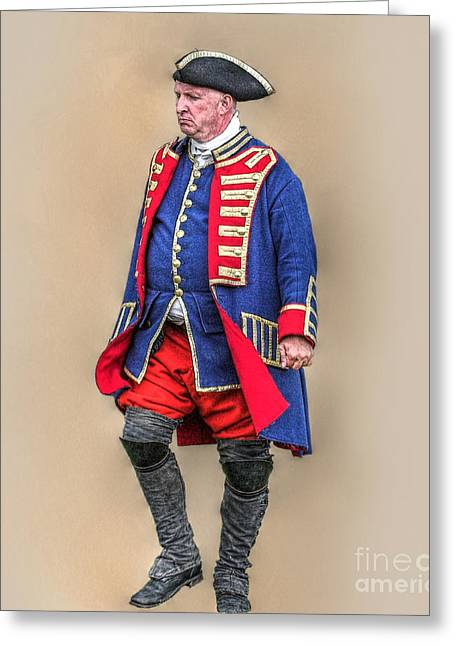 Citizens Greeting Cards - Continental Officer American Revolution Greeting Card by Randy Steele