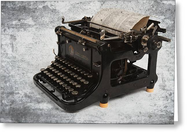 Typewriter Greeting Cards - Continental Typewriter Greeting Card by Daniel Hagerman