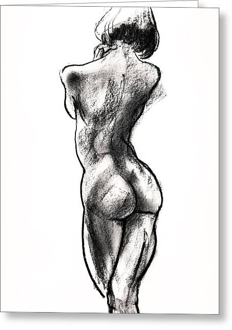 Contra Posta Female Nude Greeting Card by Roz McQuillan
