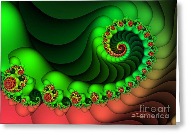 Repetition Greeting Cards - Contrasted Harmony Greeting Card by Jutta Maria Pusl