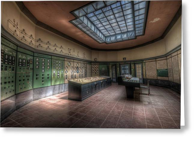 Power Plants Greeting Cards - Control room Greeting Card by Nathan Wright