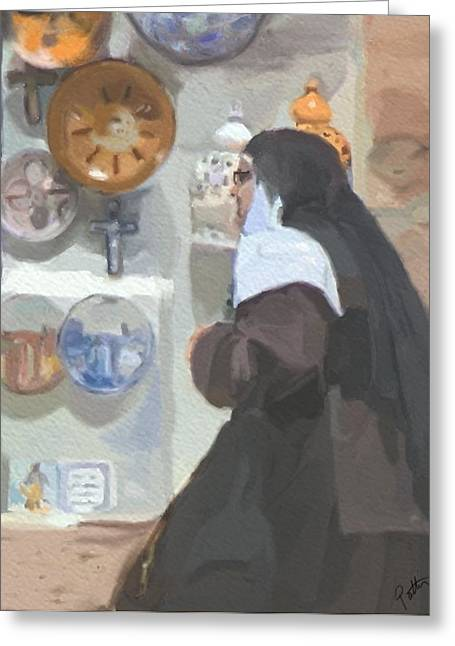 Nun Greeting Cards - Convent Bound Greeting Card by Patti Siehien