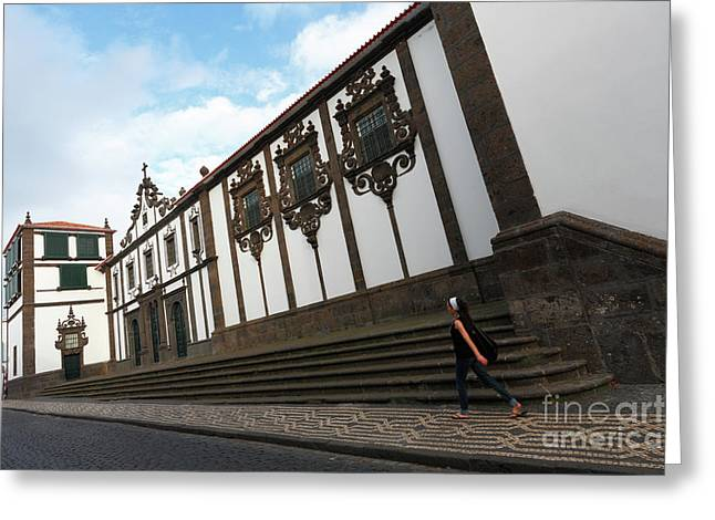 Convent In Azores Islands Greeting Card by Gaspar Avila
