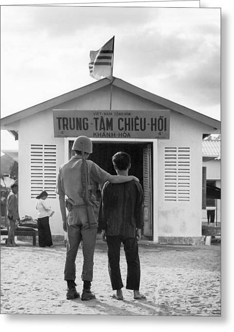 Converted Viet Cong Greeting Card by Underwood Archives