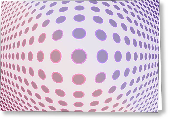 Abstract Nature Greeting Cards - Convex Dots Greeting Card by Lena Kouneva