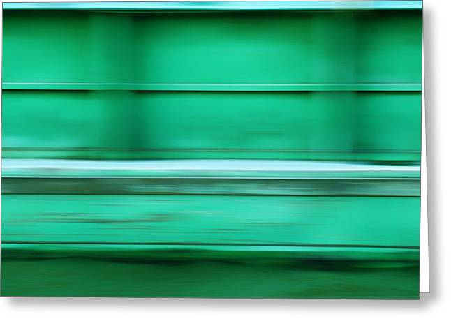 Rectangles Greeting Cards - Conveyance - River Barge - Abstract Greeting Card by Nikolyn McDonald