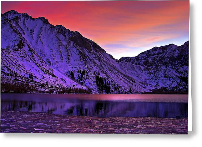 Laurel Greeting Cards - Convict Lake Sunset Greeting Card by Scott McGuire