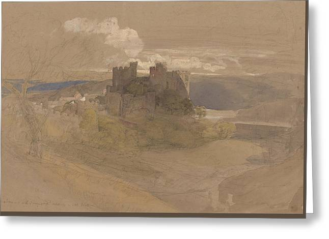 Conway Castle Greeting Card by Samuel Palmer