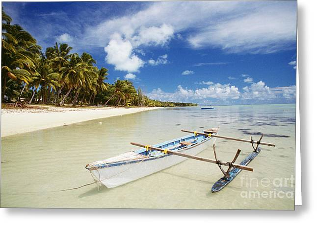 Ocean Art Photos Greeting Cards - Cook Islands, Aitutaki Greeting Card by Bob Abraham - Printscapes
