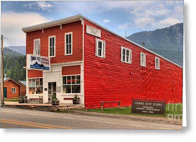 Cooke Greeting Cards - Cooke City Mercantile Greeting Card by Adam Jewell