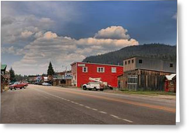 Cooke Greeting Cards - Cooke City Montana Main Street Greeting Card by Adam Jewell