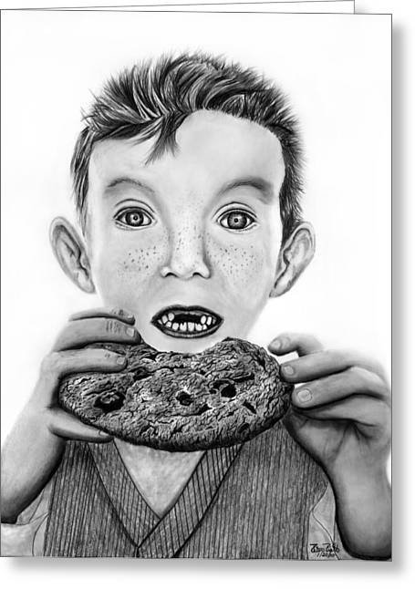 Missing Teeth Greeting Cards - Cookie Surprise  Greeting Card by Peter Piatt
