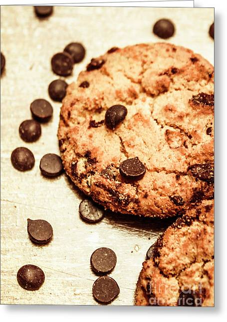 Cookies With Chocolare Chips Greeting Card by Jorgo Photography - Wall Art Gallery