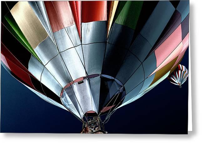 Thermal Airships Greeting Cards - Cool Air Balloons Greeting Card by David Patterson