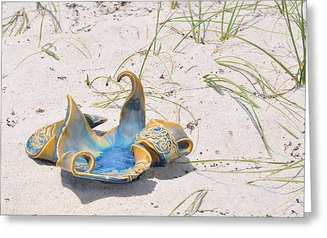 Beach Ceramics Greeting Cards - Cool Artwork Greeting Card by Gibbs Baum