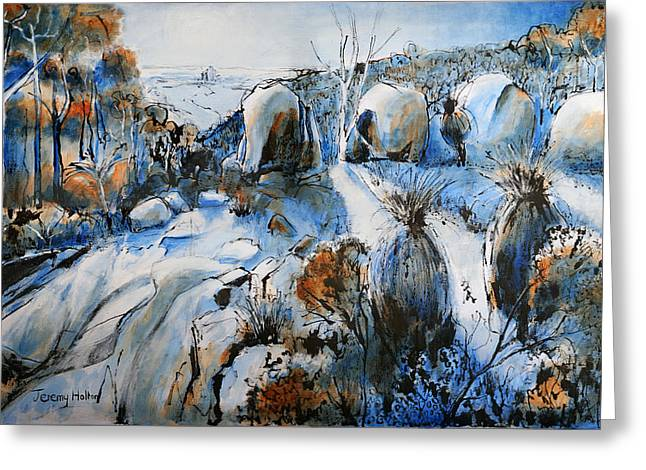 Western Australia Greeting Cards - Cool blues Greeting Card by Jeremy Holton