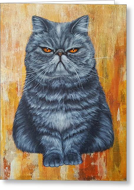 Animals Love Greeting Cards - Cool Cat Greeting Card by Kathleen Wong