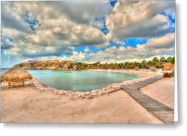 Tropical Photographs Paintings Greeting Cards - Cool Curacao Greeting Card by Nadia Sanowar