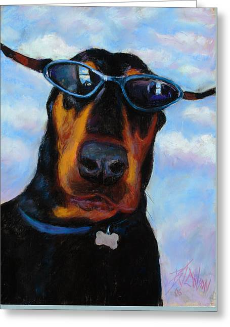 Cool Dob Greeting Card by Billie Colson