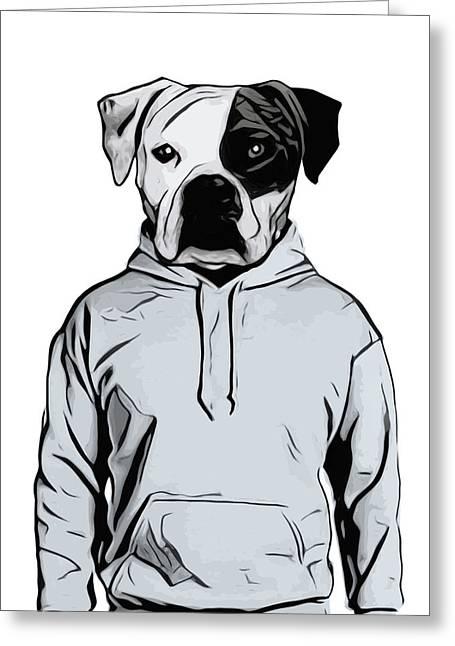 Cool Dog Greeting Card by Nicklas Gustafsson