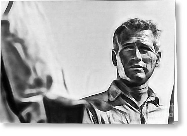 Paul Greeting Cards - Cool Hand Luke Paul Newman Greeting Card by Marvin Blaine