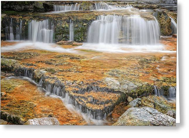 Minimalism Greeting Cards - Cool Mountain Stream Square Greeting Card by Bill Wakeley