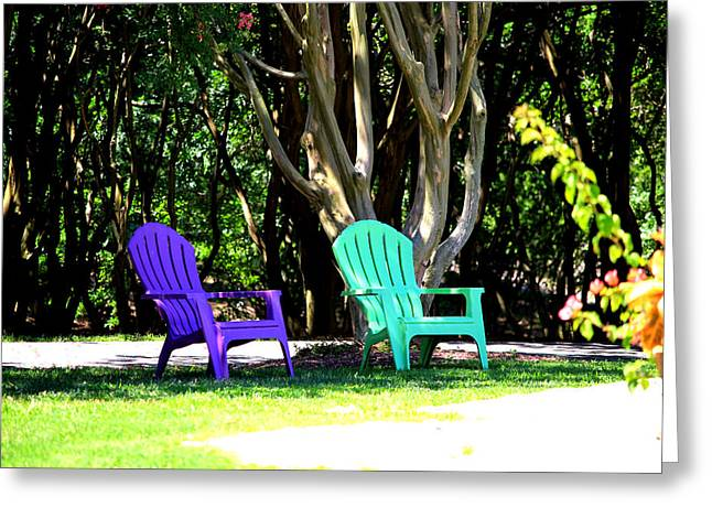 Lawn Chair Greeting Cards - Cool Summer Greeting Card by Elle A