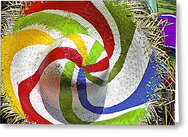 Straw Greeting Cards - Cool Summer Hat Greeting Card by Christine Till