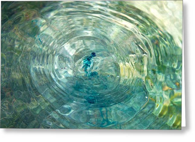 Dropping Greeting Cards - Cool Water Greeting Card by Betsy C  Knapp