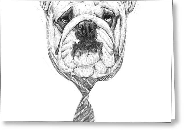 cooldog Greeting Card by Balazs Solti