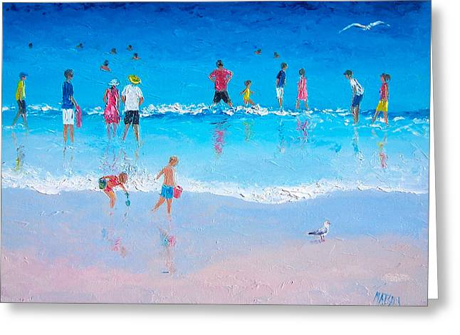 Beach Cottage Style Greeting Cards - Cooling Off Greeting Card by Jan Matson