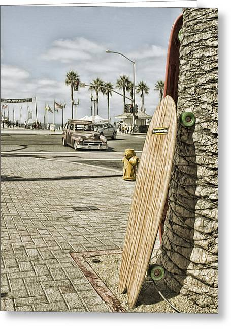 Skateboard Digital Greeting Cards - Coolness Required Greeting Card by Rich Beer