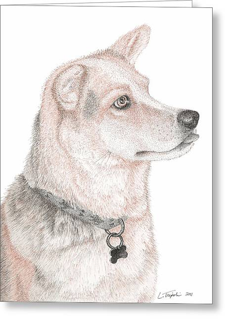 Cooper Greeting Card by Lawrence Tripoli