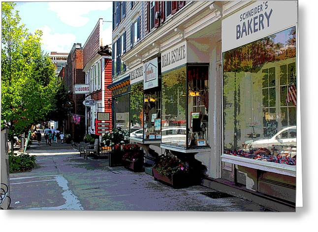 Bakery Poster Greeting Cards - Cooperstown Greeting Card by Bob Whitt