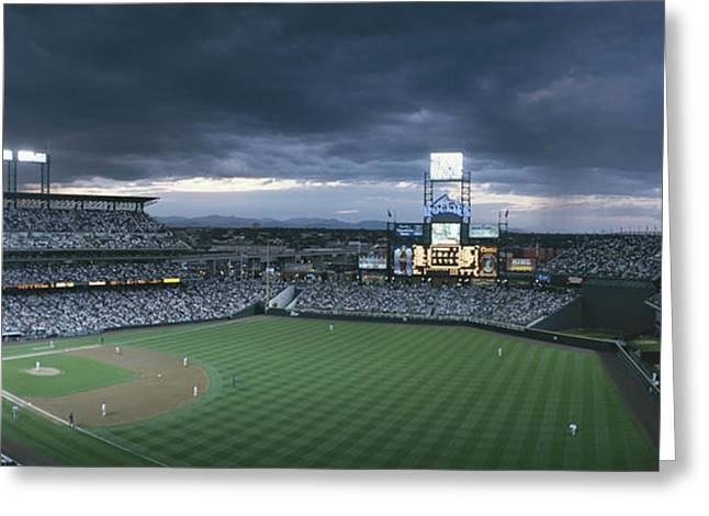 Coors Greeting Cards - Coors Field, Denver, Colorado Greeting Card by Michael S. Lewis