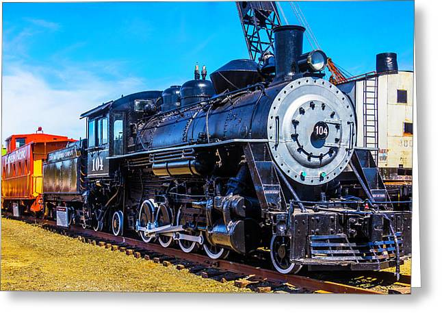 Coos Bay Lumber Company Train 104 Greeting Card by Garry Gay