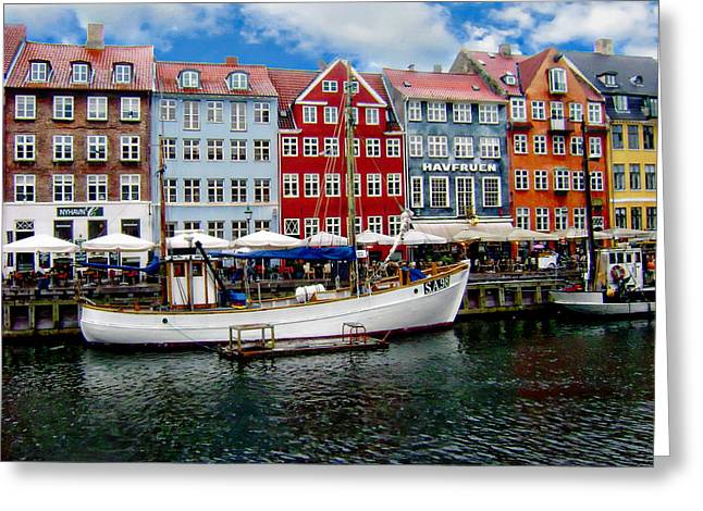 Water Vessels Greeting Cards - Copenhagen - Denmark Greeting Card by Anthony Dezenzio