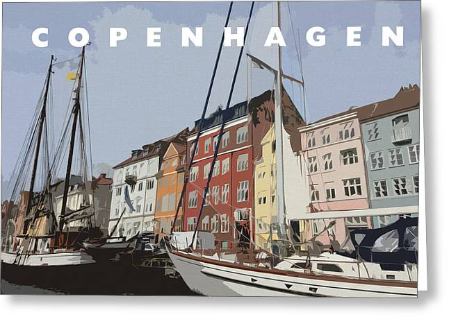 Boat Cruise Digital Greeting Cards - Copenhagen Memories Greeting Card by Linda Woods