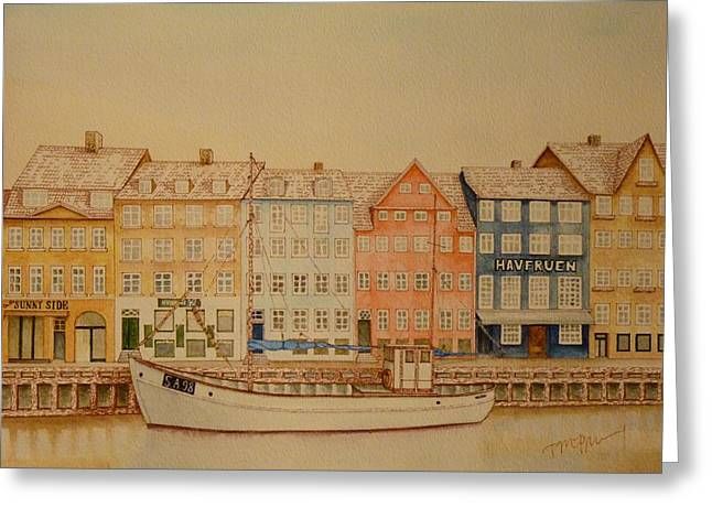 Copenhagen Greeting Card by Tim Murray