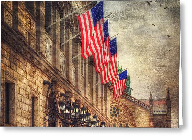 New Greeting Cards - Copley Square - Boston Architecture Greeting Card by Joann Vitali