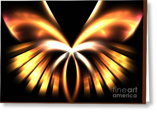 Warm Tones Greeting Cards - Copper Angel Greeting Card by Kim Sy Ok
