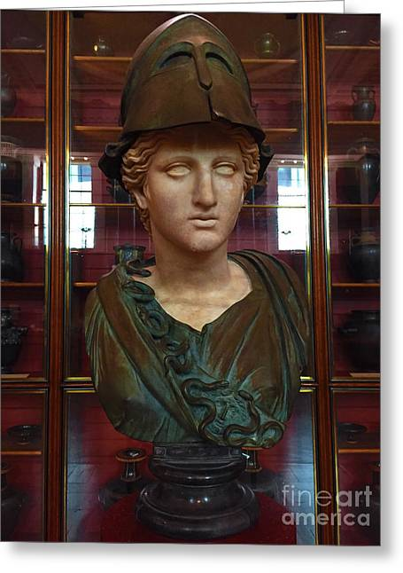 View Sculptures Greeting Cards - Copper Bust in Rome Greeting Card by Michael Braham