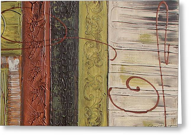 Rectangles Greeting Cards - Copper Dreams-B-JP3492 Greeting Card by Jean Plout